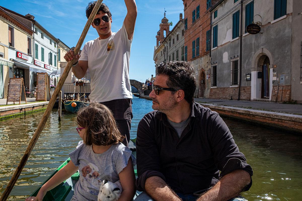 Le batane nei canali di Comacchio