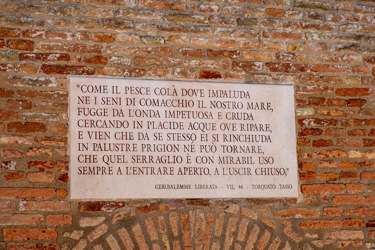 Targhetta Trepponti Comacchio