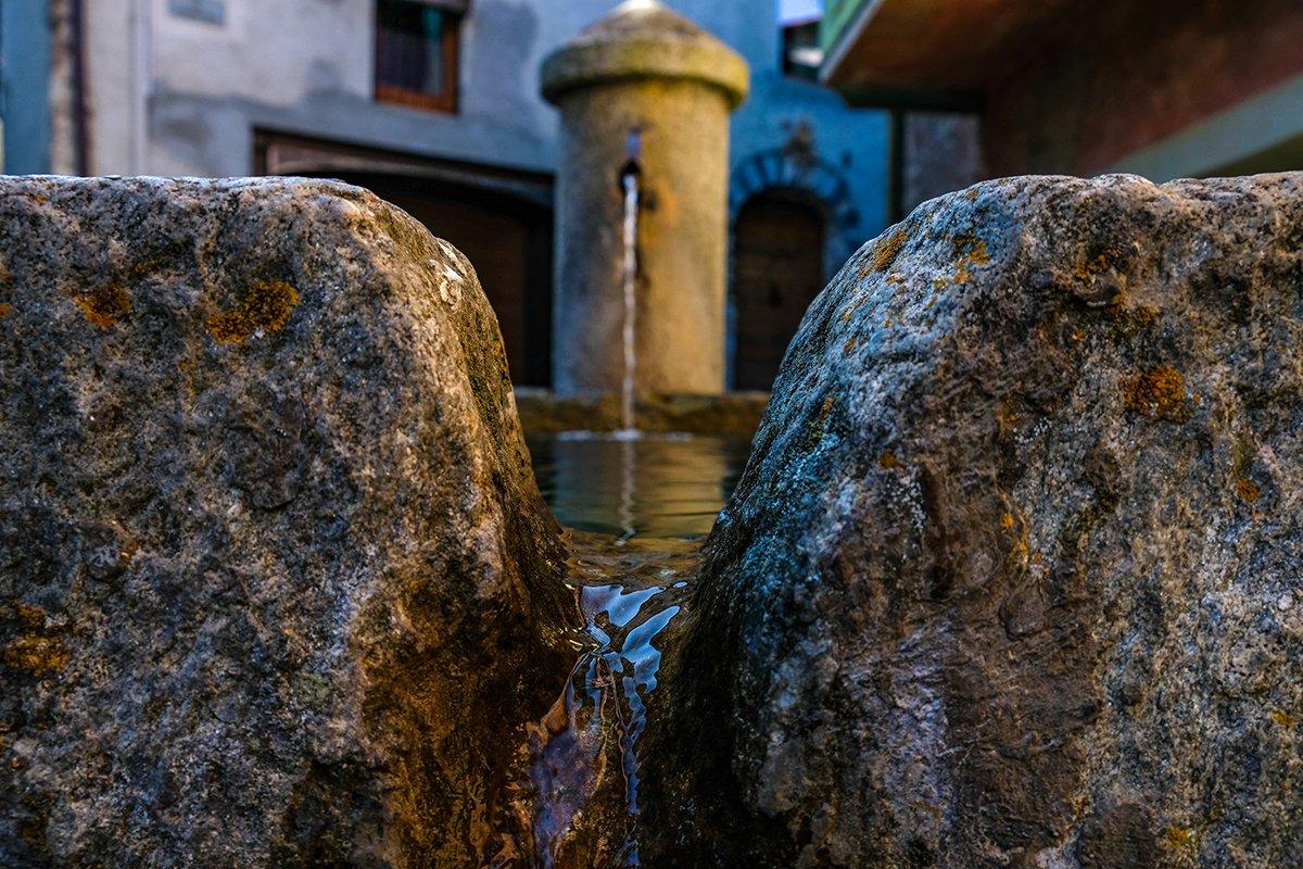 Una fontana di Sauze d'Oulx