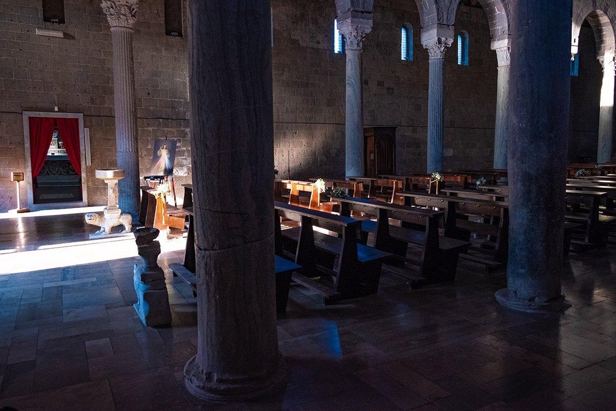 L'interno del Duomo di Casertavecchia