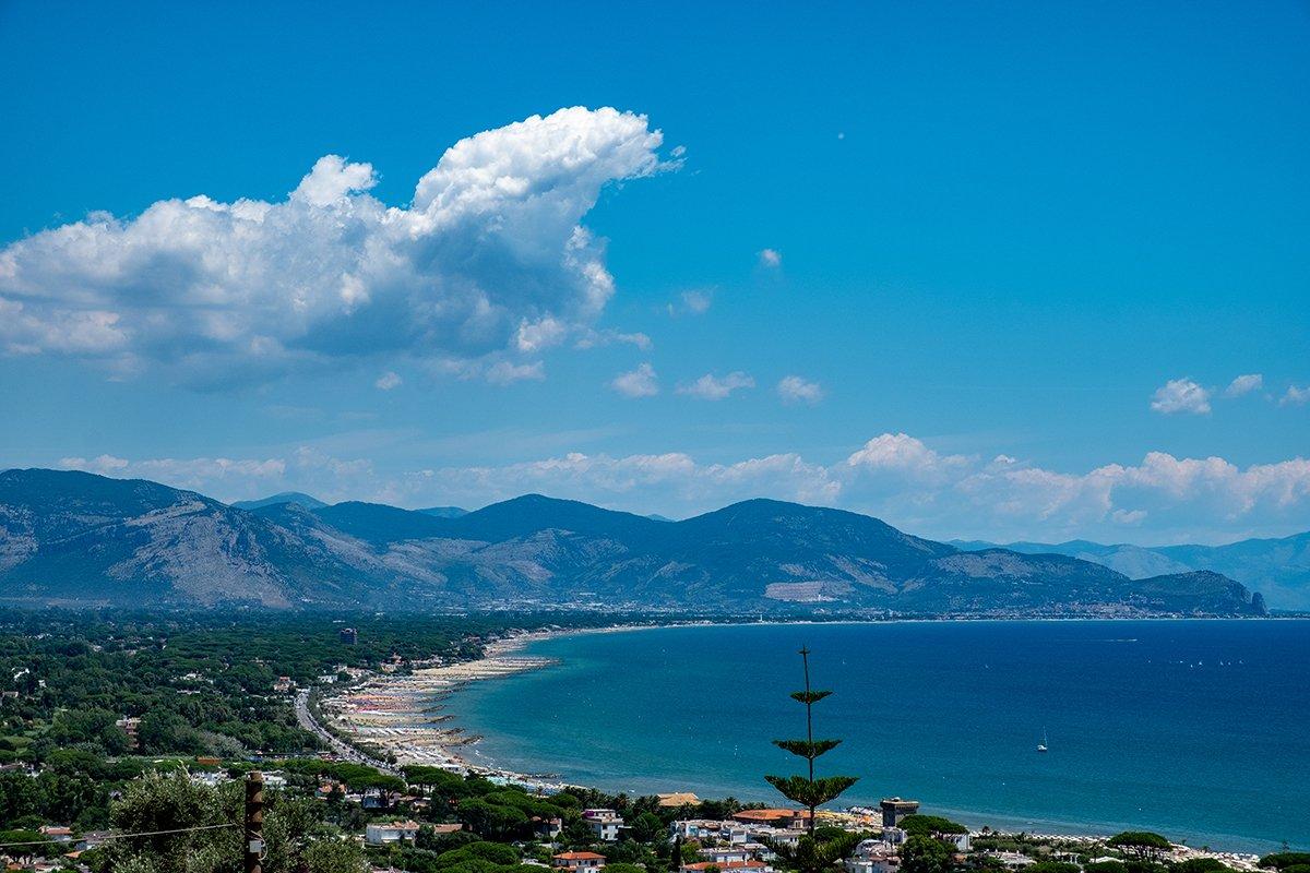 Panorama visto dal borgo di San Felice Circeo