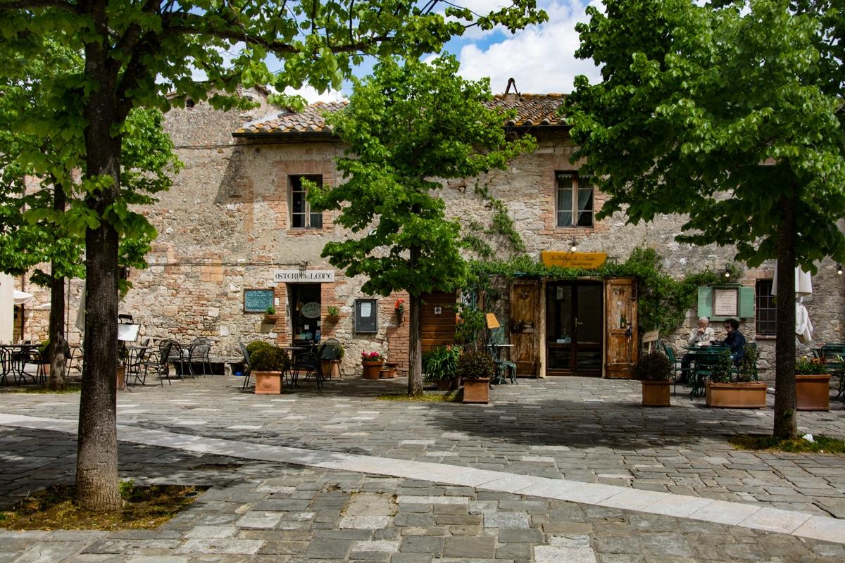 Il centro storico di Bagno Vignoni