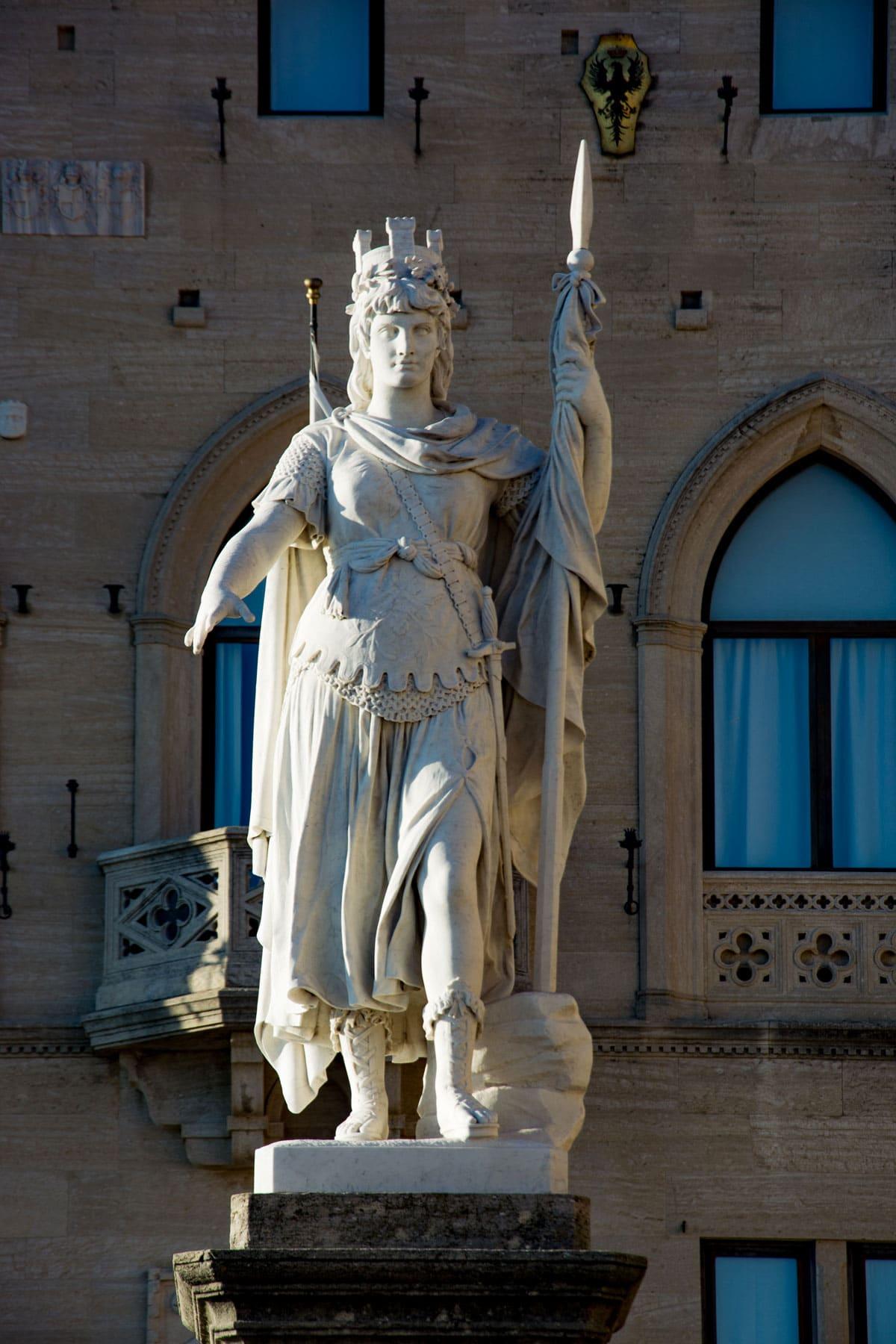 La statua della Libertà di San Marino