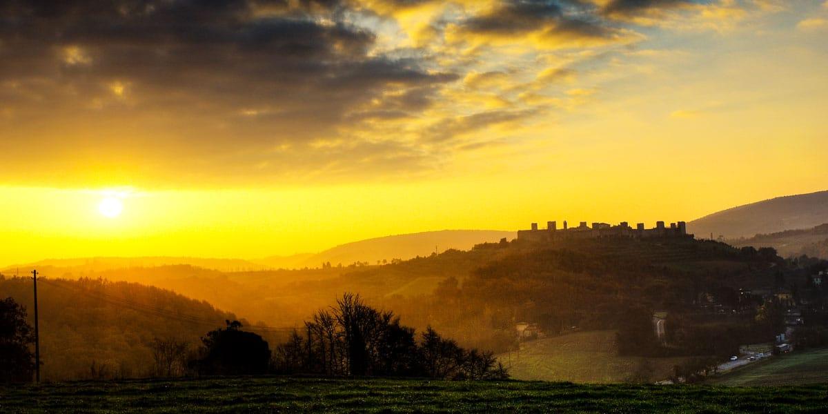 Vista di Monteriggioni