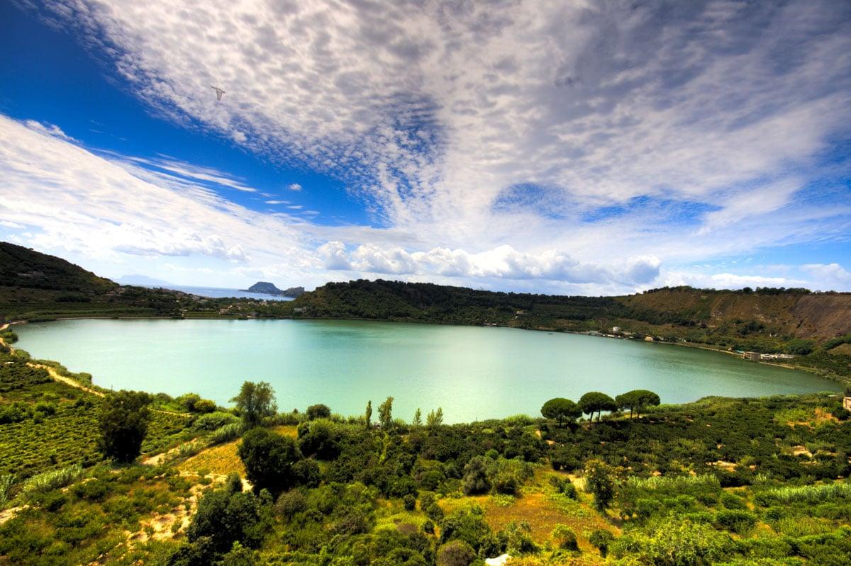 Lago d'Averno veduta
