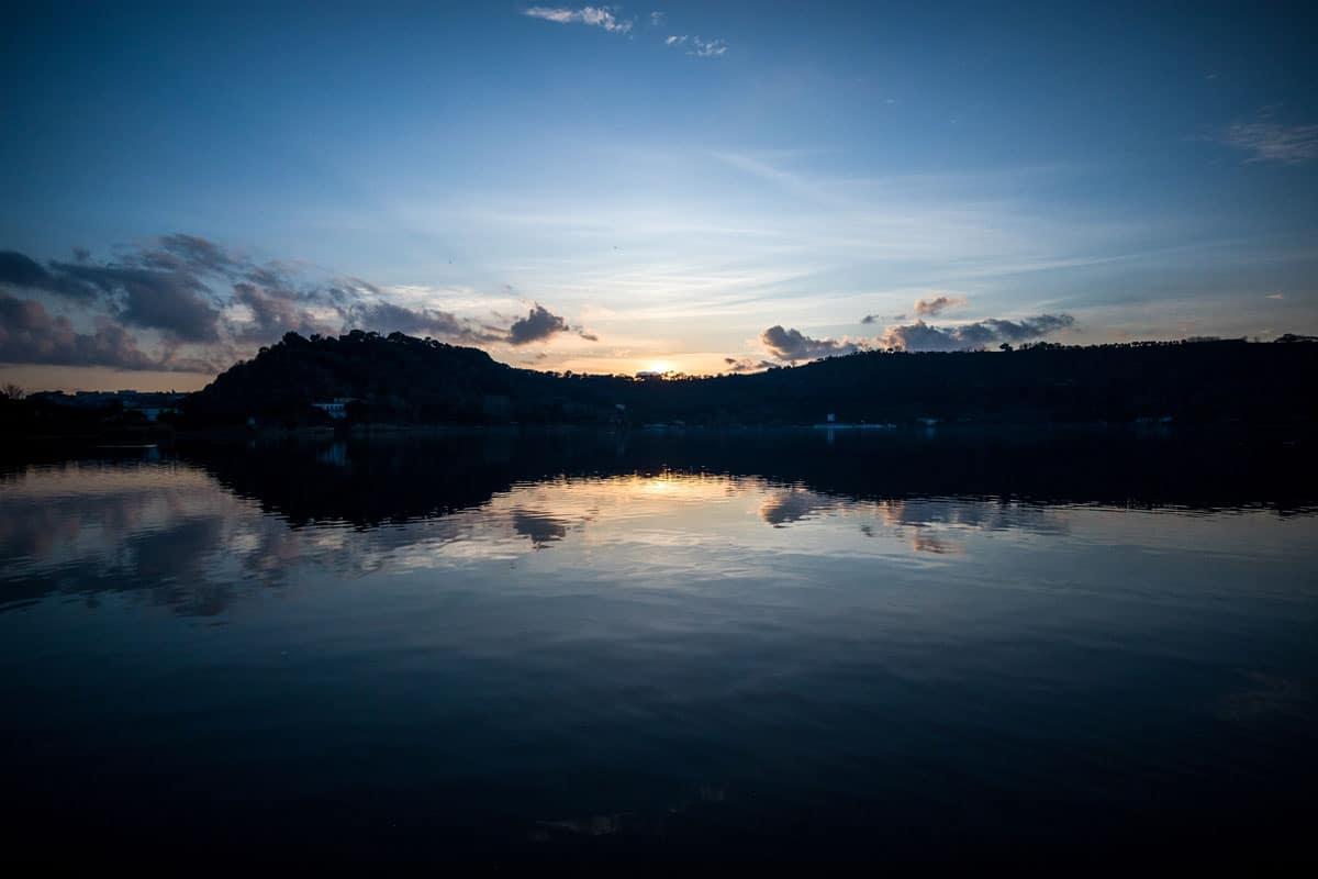Tramonto sul Lago d'Averno