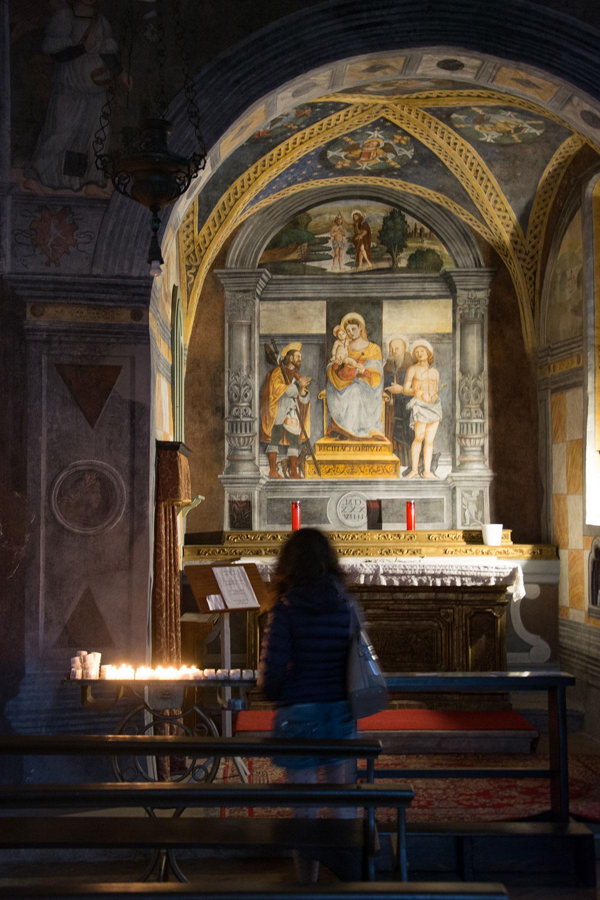 Interno chiesa San Rocco - Limone sul Garda